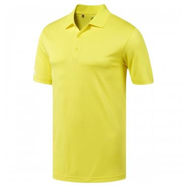 adidas Gents Performance Polo Shirt Bright Yellow