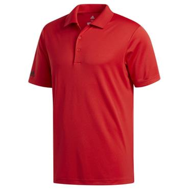 Adidas Gents Performance Polo Shirt Red