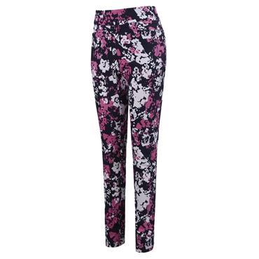 Callaway Ladies Floral Printed Pull On Trousers Peacoat