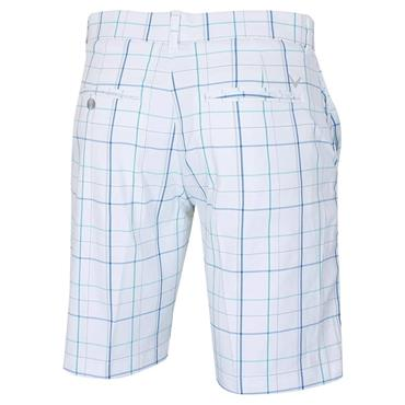 Callaway Gents Fashion Plaid Shorts White