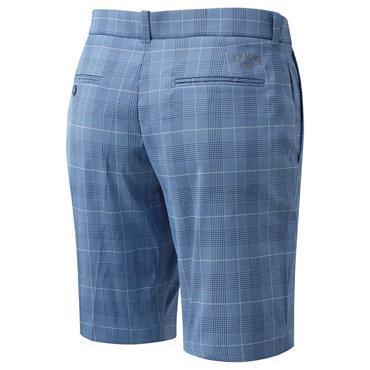 Callaway Gents FF Glen Plaid Shorts Medieval Blue
