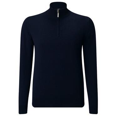 Callaway Gents Merino 1/4 Zip Sweater Peacoat