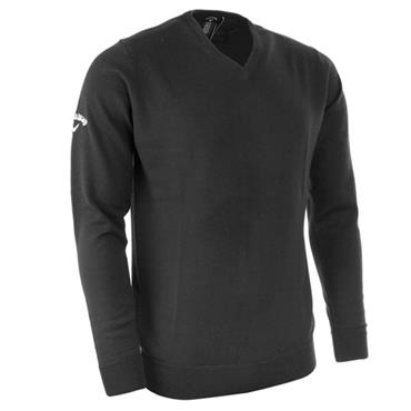 Callaway Gents Merino High V-Neck Sweater Griffin Grey