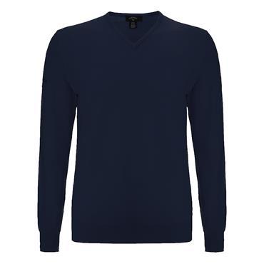 Callaway Gents Merino High V-Neck Sweater Peacoat