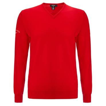 Callaway Gents Merino High V-Neck Sweater Tango Red