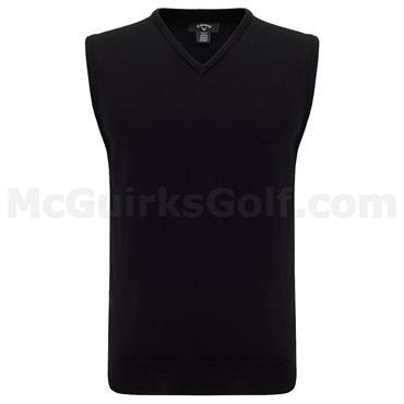 Callaway Gents Merino V-Neck Sweater Vest Black