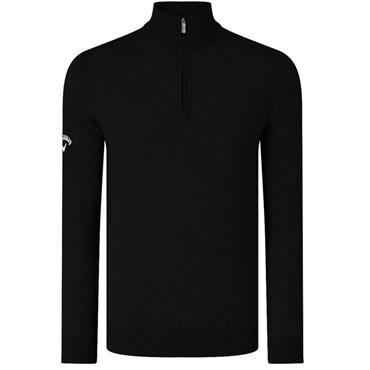 Callaway Gents Ribbed Merino 1/4 Zip Sweater Black