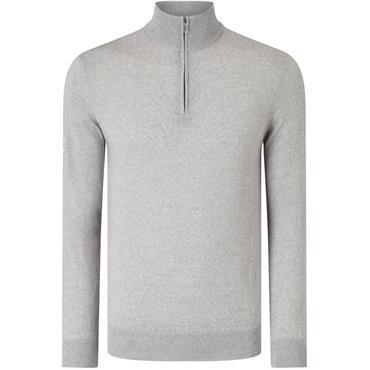 Callaway Gents Ribbed Merino 1/4 Zip Sweater Granite