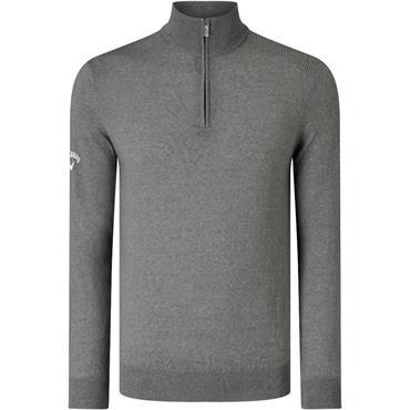 Callaway Gents Ribbed Merino 1/4 Zip Sweater Quiet Shade