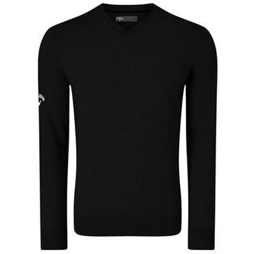 Callaway Gents Ribbed V-Neck Merino Sweater Black