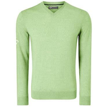 Callaway Gents Ribbed V-Neck Merino Sweater Jade
