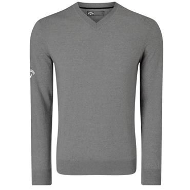 Callaway Gents Ribbed V-Neck Merino Sweater Quiet Shade