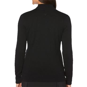 Callaway Ladies Cashmere Striped Full Zip Jacket Black