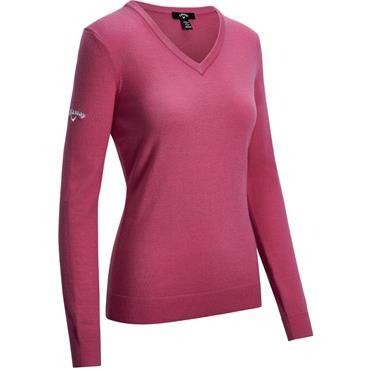 Callaway Ladies V Neck Merina Sweater Pink