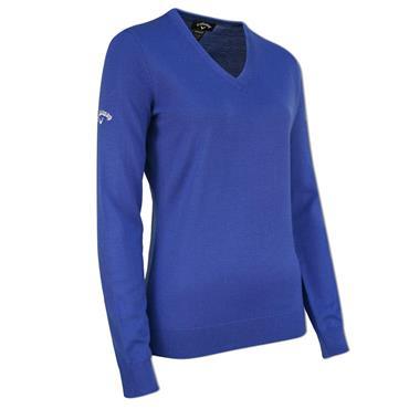 Callaway Ladies V-Neck Merino Sweater Blue