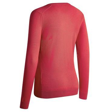 Callaway Ladies V-Neck Merino Sweater Teaberry