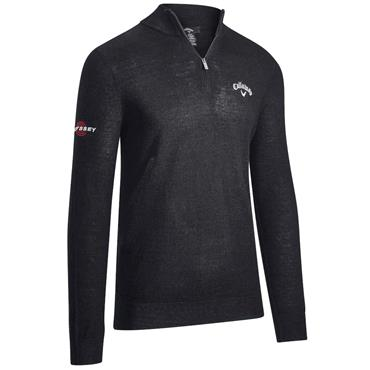 Callaway Gents ¼ Zip Mock Sweater Black Ink