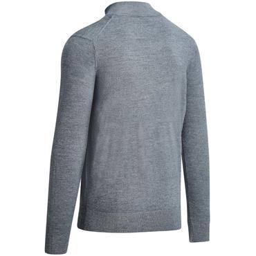 Callaway Gents 1/4 Zip Mock Sweater Steel Heather
