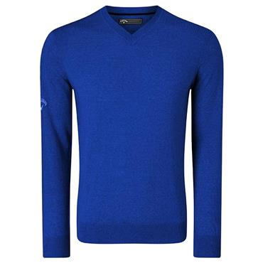 Callaway Gents V-Neck Blended Merino Sweater Blue
