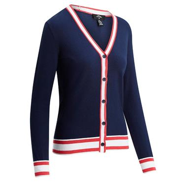 Callaway Ladies Coolmax Sweater Cardigan Peacoat