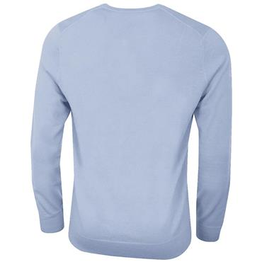 Callaway Gents Long Sleeve V-Neck Merino Sweater Brunnera Blue