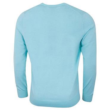 Callaway Gents Long Sleeve V-Neck Merino Sweater Blue
