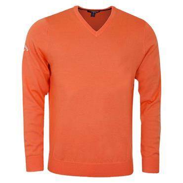Callaway Gents Long Sleeve V-Neck Merino Sweater Firecracker