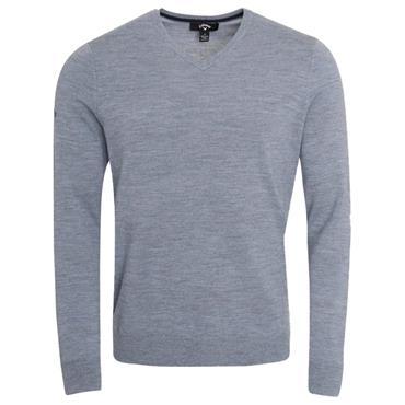 Callaway Gents Long Sleeve V-Neck Merino Sweater Heather