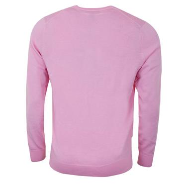 Callaway Gents Long Sleeve V-Neck Merino Sweater Pink