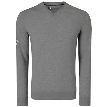 Callaway Gents Long Sleeve V-Neck Merino Sweater Grey