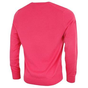 Callaway Gents Long Sleeve V-Neck Merino Sweater Raspberry
