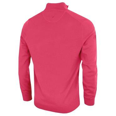 Callaway Gents Long Sleeve 1/4 Zip Merino Sweater Raspberry