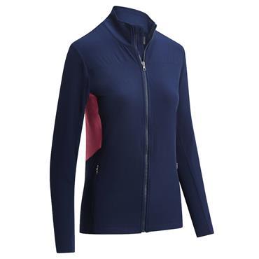 Callaway Ladies Panelled Fleece Jacket Peacoat