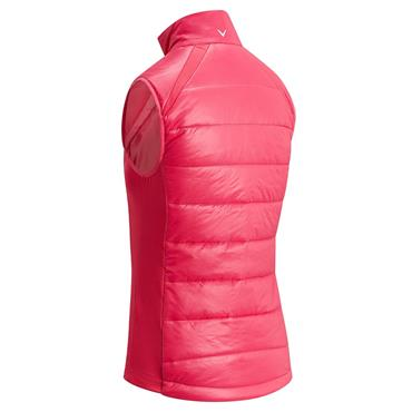 Callaway Ladies Swing Tech Puffer Vest Teaberry