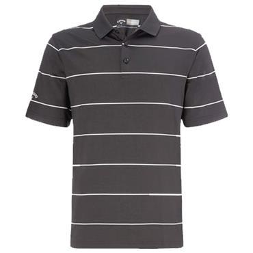 Callaway Gents Chev Auto Stripe Polo Shirt Asphalt