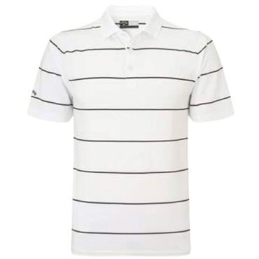 Callaway Gents Chev Auto Stripe Polo Shirt White