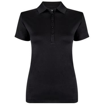 Callaway Ladies Golf Performance Solid Polo Shirt Caviar