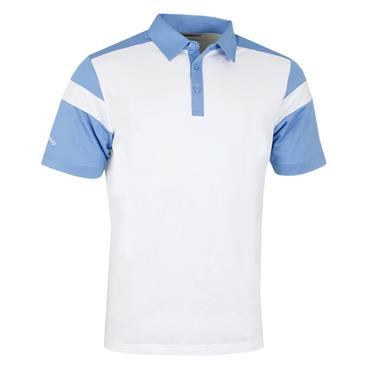 Callaway Gents Chevron Blocked Polo Shirt White