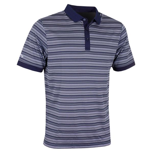 3ee176e5f Callaway Gents Opti-Dri Multi-Striped Polo Shirt Peacoat | Golf Store