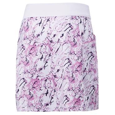 Callaway Ladies Liquid Pink Printed Skort White