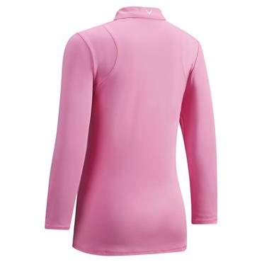 Callaway Ladies Swing Tech 3/4 Sleeve Polo Shirt Pink