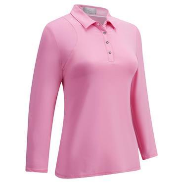 Callaway Ladies Swing Tech 3/4 Sleeve Polo Shirt Pink