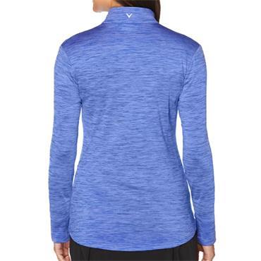 Callaway Ladies Long Sleeve Full Zip Heathered Jacket Dazzling Blue