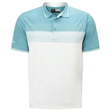 Callaway Gents Engineered Jacguard Polo Shirt Blue