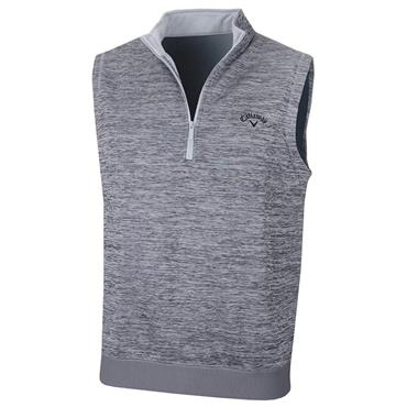 Callaway Gents Water Repellent ¼ Zip Vest Grey Heather