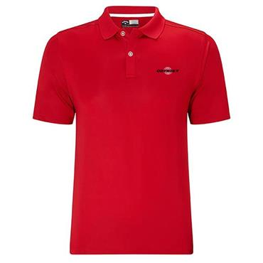 Callaway Gents Tournament Polo Shirt Red