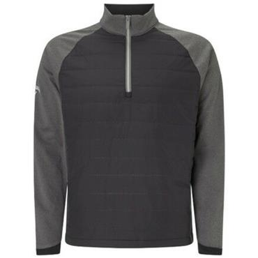 Callaway Gents Ultrasonic Quilted Technical 1/4 Zip Pullover Caviar
