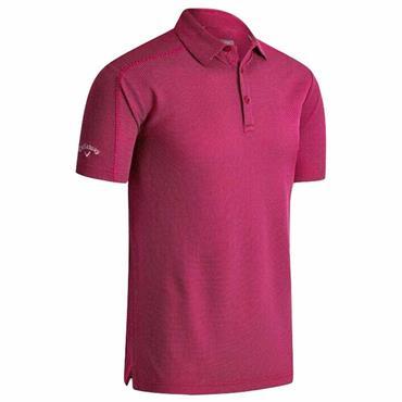 Callaway Gents Box Jacquard Polo Shirt Boudoir Red