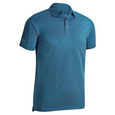 Callaway Gents Box Jacquard Polo Shirt Medieval Blue