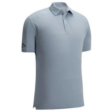 Callaway Gents Box Jacquard Polo Shirt Pearl Blue